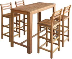 Bartisch mit Stühlen, Stehtisch
